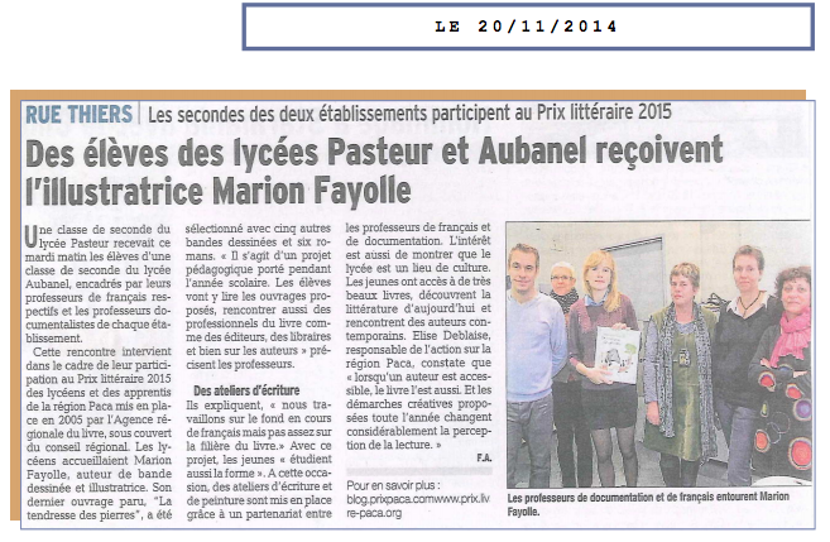 Article Vaucluse Matin du 20.11.2014(3)